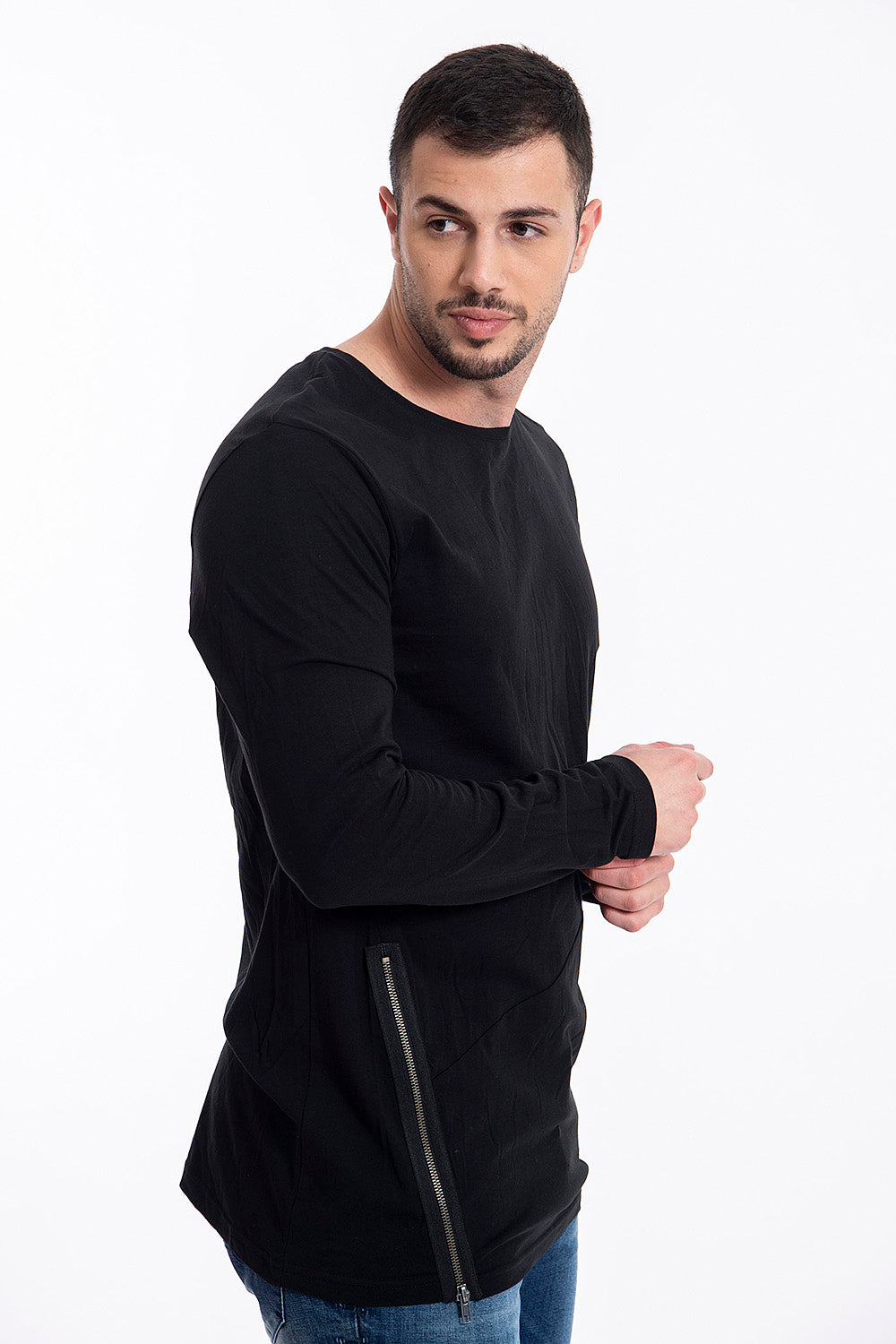 Sublevel long sleeved t-shirt with zip detail