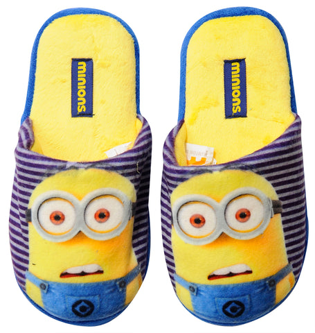 Minions with stripes slipper