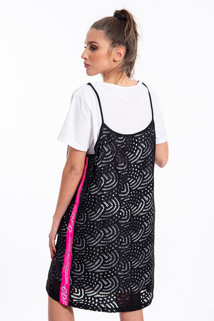Comme des Fuckdown dress with attached t-shirt dress