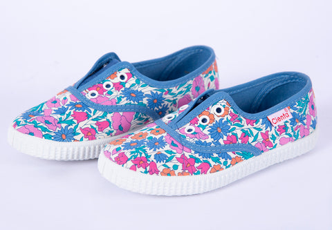 Cienta floral slip-on sneakers