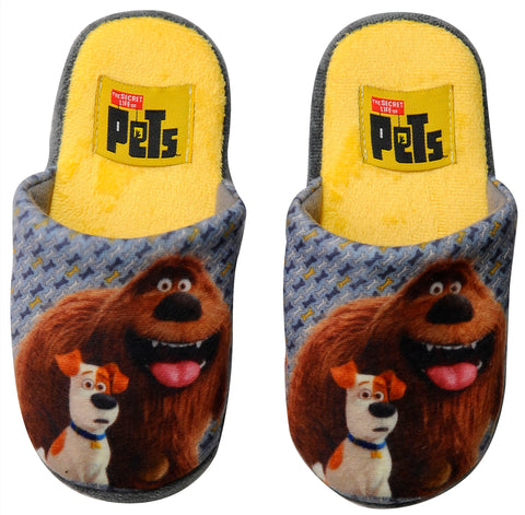 The Secret Life of Pets slippers with Max and Duke