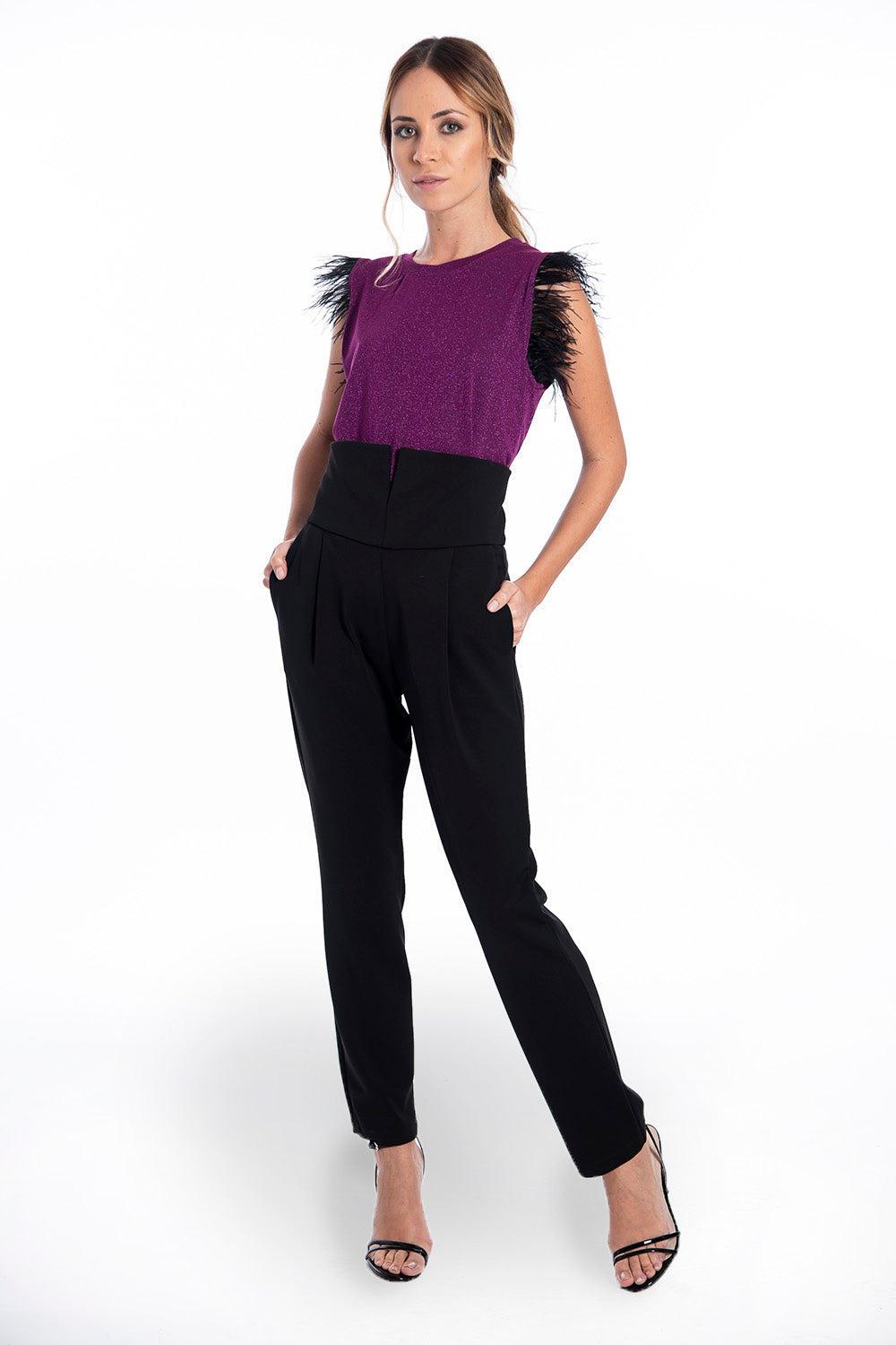 Patrizia Segreti high waist trousers with V waist design