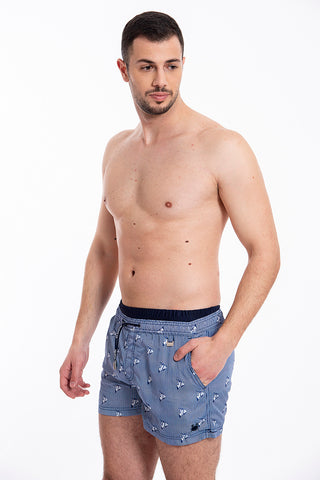 David vespa pattern short swim shorts