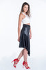 Waggon asymmetric skirt satin look