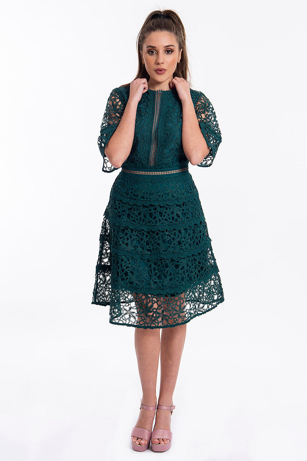 True Decadance laser cut dress with longer sleeves