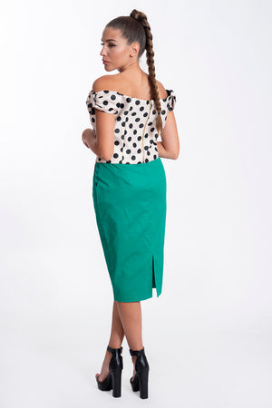 Desiree midi pencil skirt