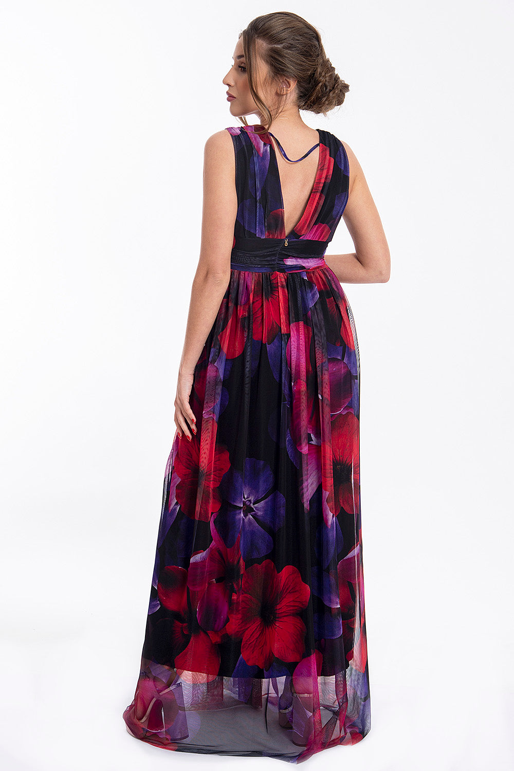 Artigli maxi dress with plunged front