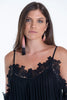 Bojo lace cami dress in bardot sleeves