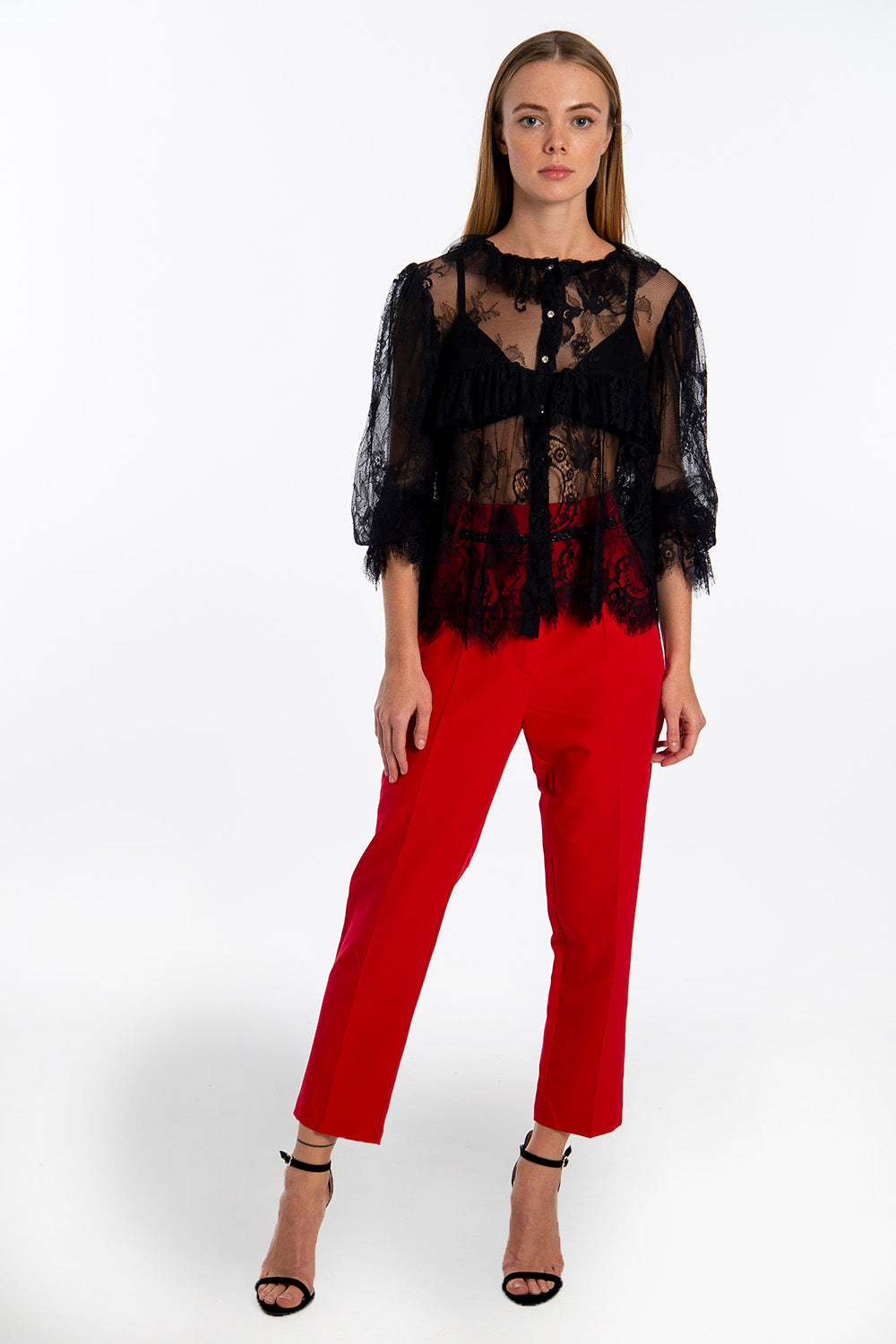 Patrizia Segreti lace shirt top