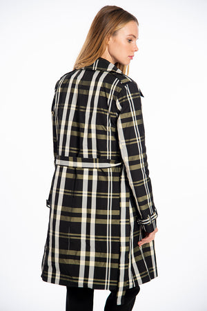 NúNu suited trench coat in check
