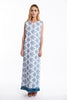 Teem ethnic pattern dress with front split