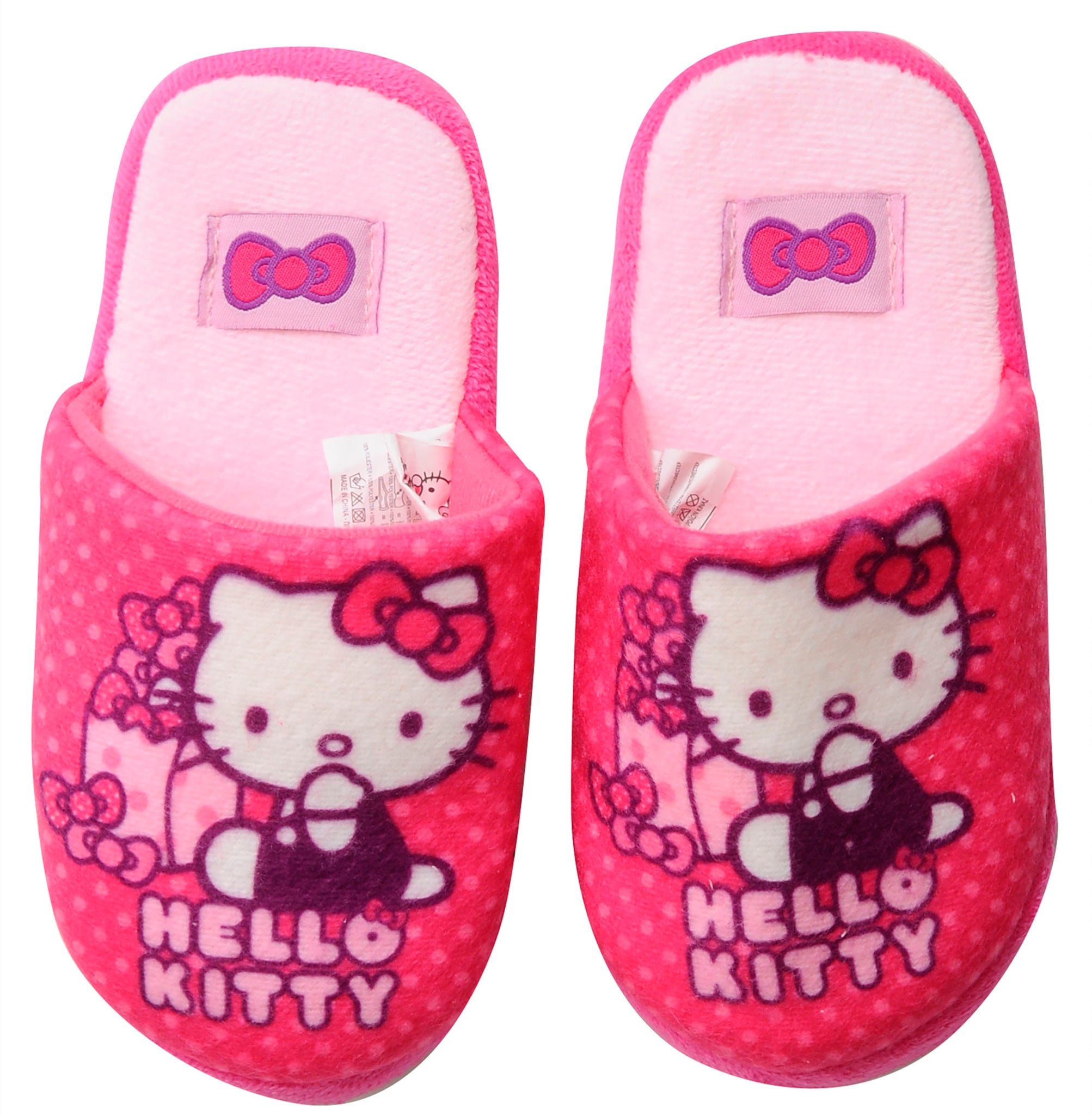 Hello Kitty slippers with bow design
