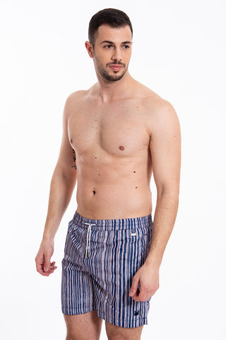 David mid length stripes swim shorts