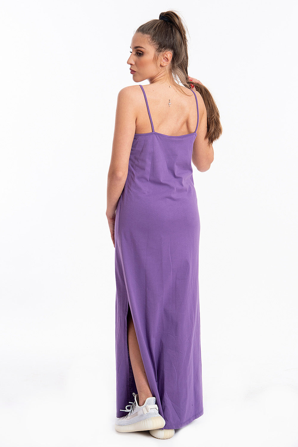 Comme des Fuckdown basic maxi dress with side split