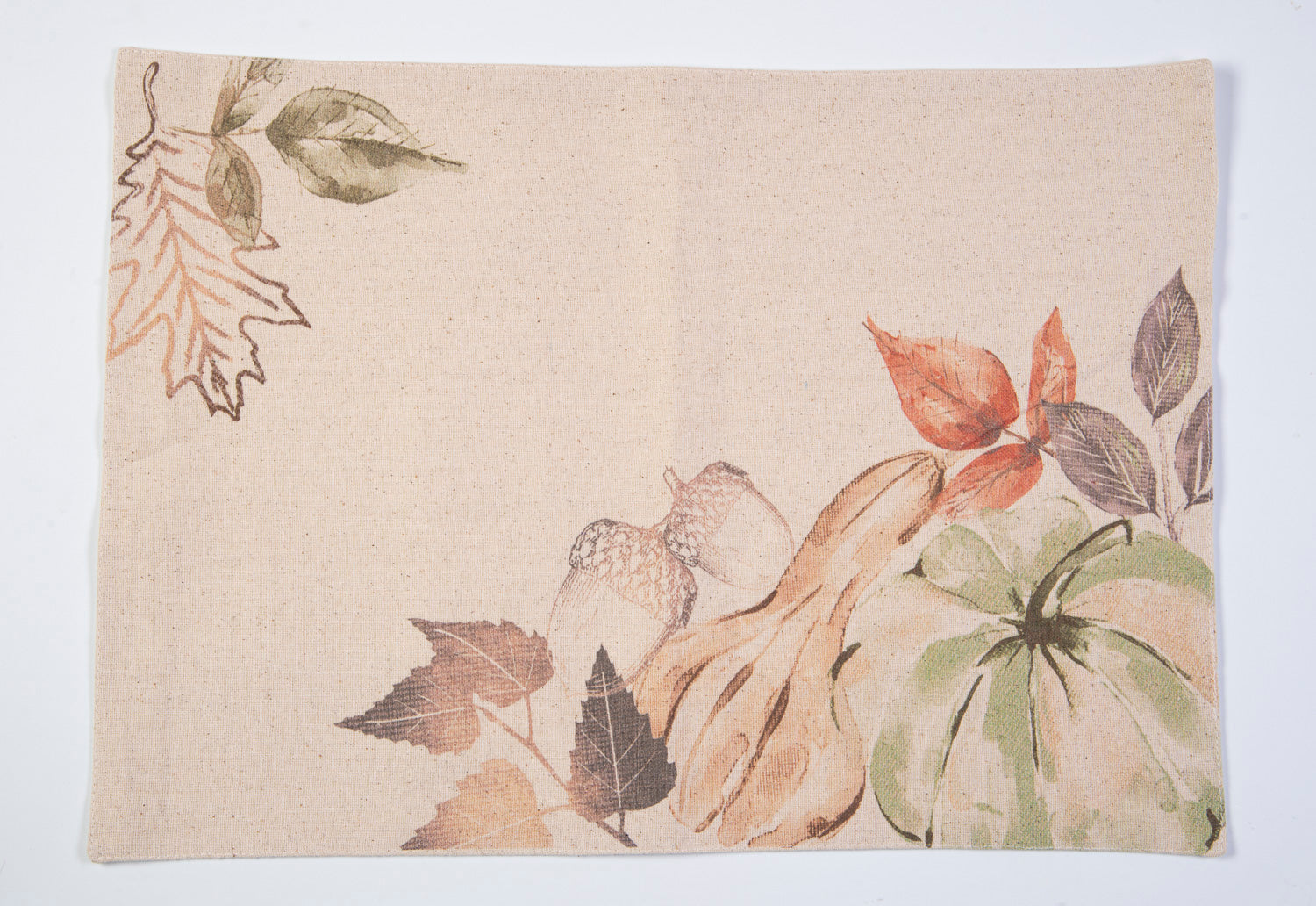 Harvest natural colour acorn and leaves  design placemat