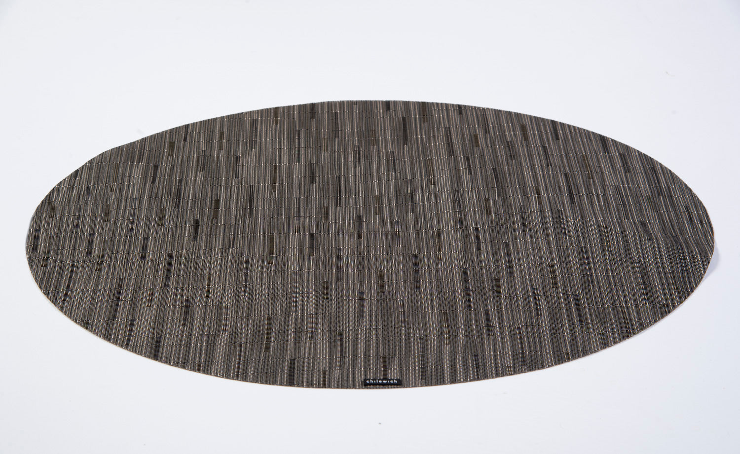 Chilewich grey bamboo oval placemat