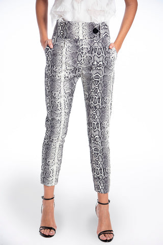 NúNu slim animal print trousers