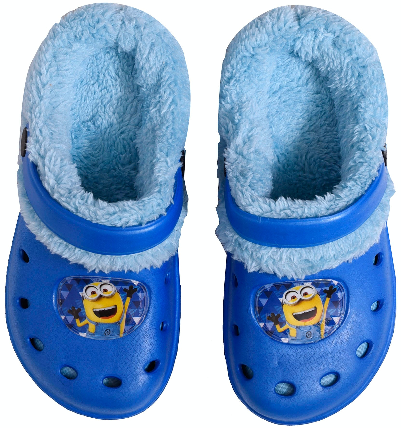 Minions blue clogs with inner fur