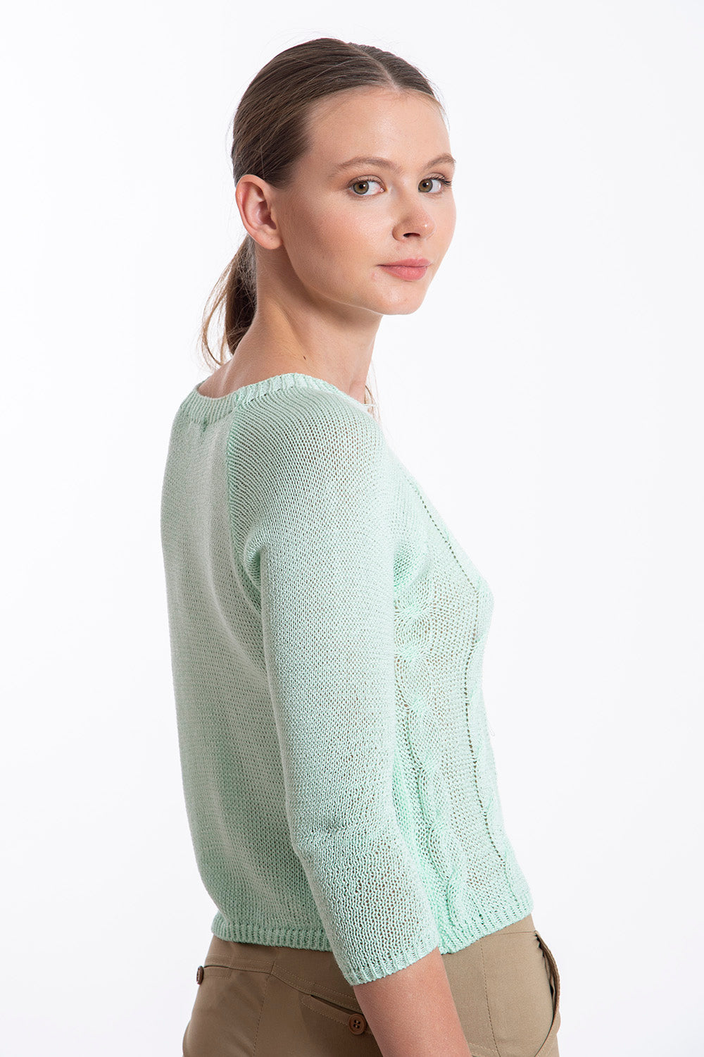 Akè thin knit sweater with pattern