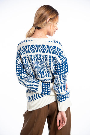 Infinity blue pattern jumper