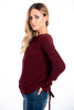 Infinity Knitwear top with back lace up