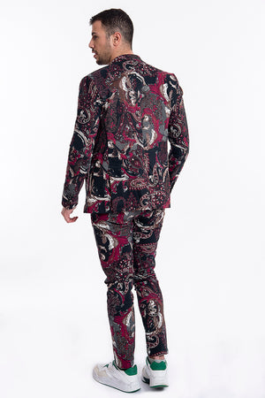 Gianni Lupo floral suit trousers