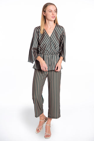 Akè high waisted cropped co-ord trousers in stripes