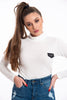 Kavanagh woolish cropped top with long sleeves