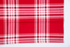 Set of 2 napkins in plaid red and white