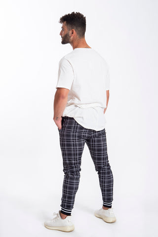 Kavanagh check pattern tracksuit cuffs