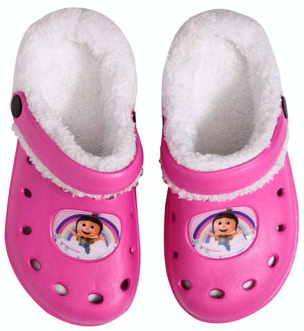 Minions pink clogs with inner fur