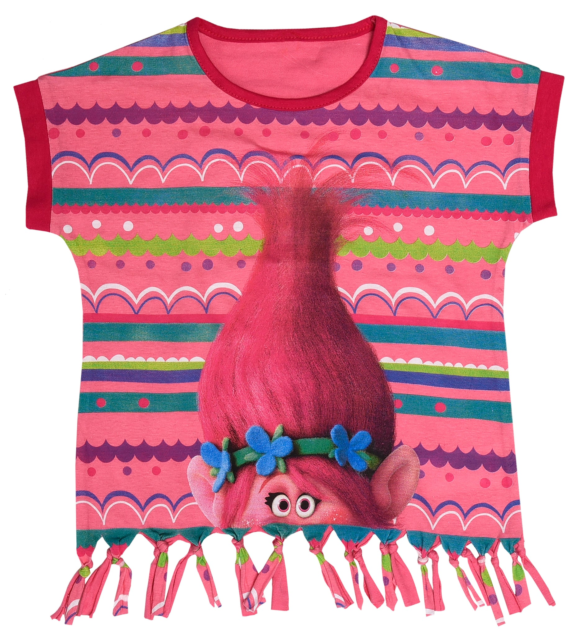 Trolls top with fringes