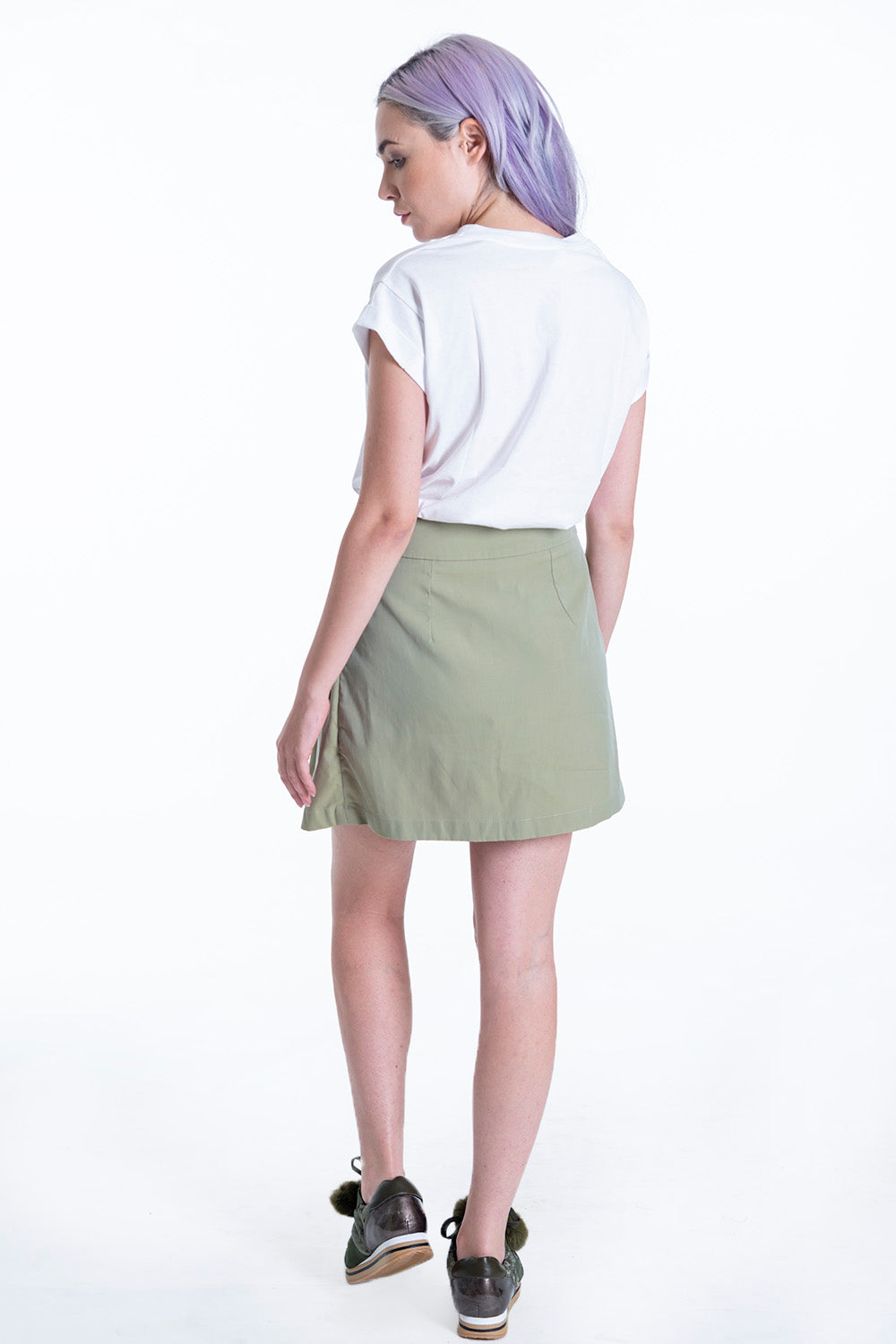 One by Cubic mini skirt with front tie