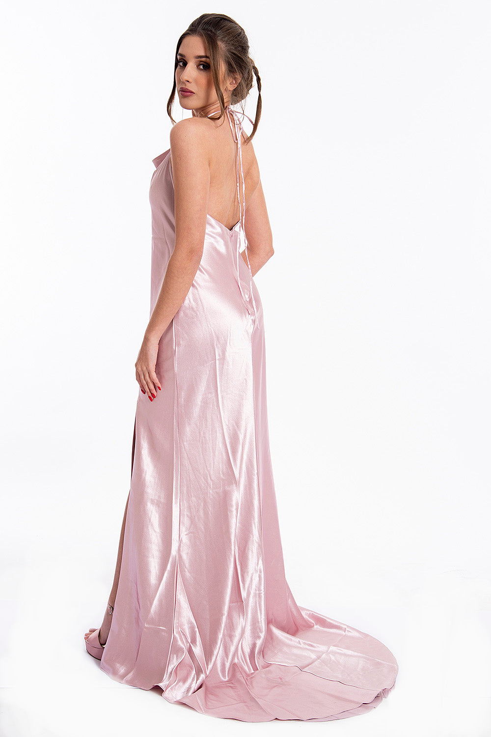 True Decadance maxi satin dress with open back