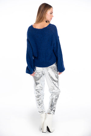 Infinity oversized jumper with baloon sleeves