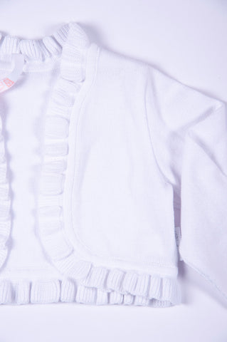 Barbaras¨ open cardigan with frills