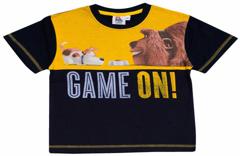 The Secret Life of Pets Game on text t-shirt