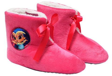 Shimmer and Shine heroes boots slippers with bow detail