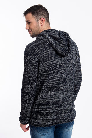 Stitch & Soul ribbed hooded jumper