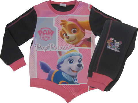 Paw Patrol heroes joggers set with asymmetric top