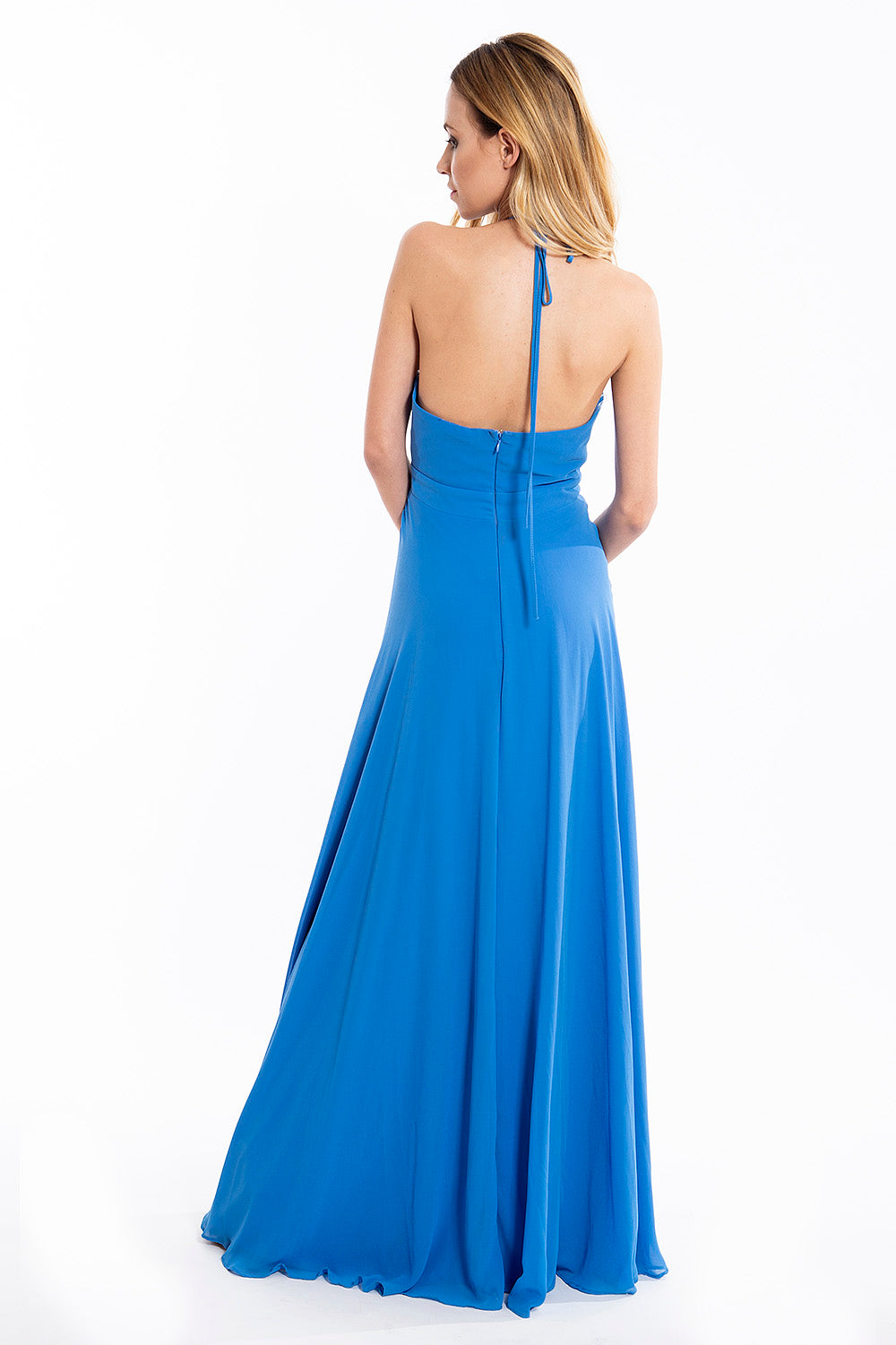 FreeStyle floor length open back dress