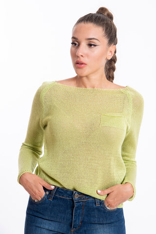 Akè light knit sweater with side pocket