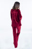Pixie wide leg  velvet loungewear trousers with pockets