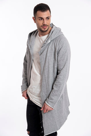 Sublevel long waterfall hoodie with pockets