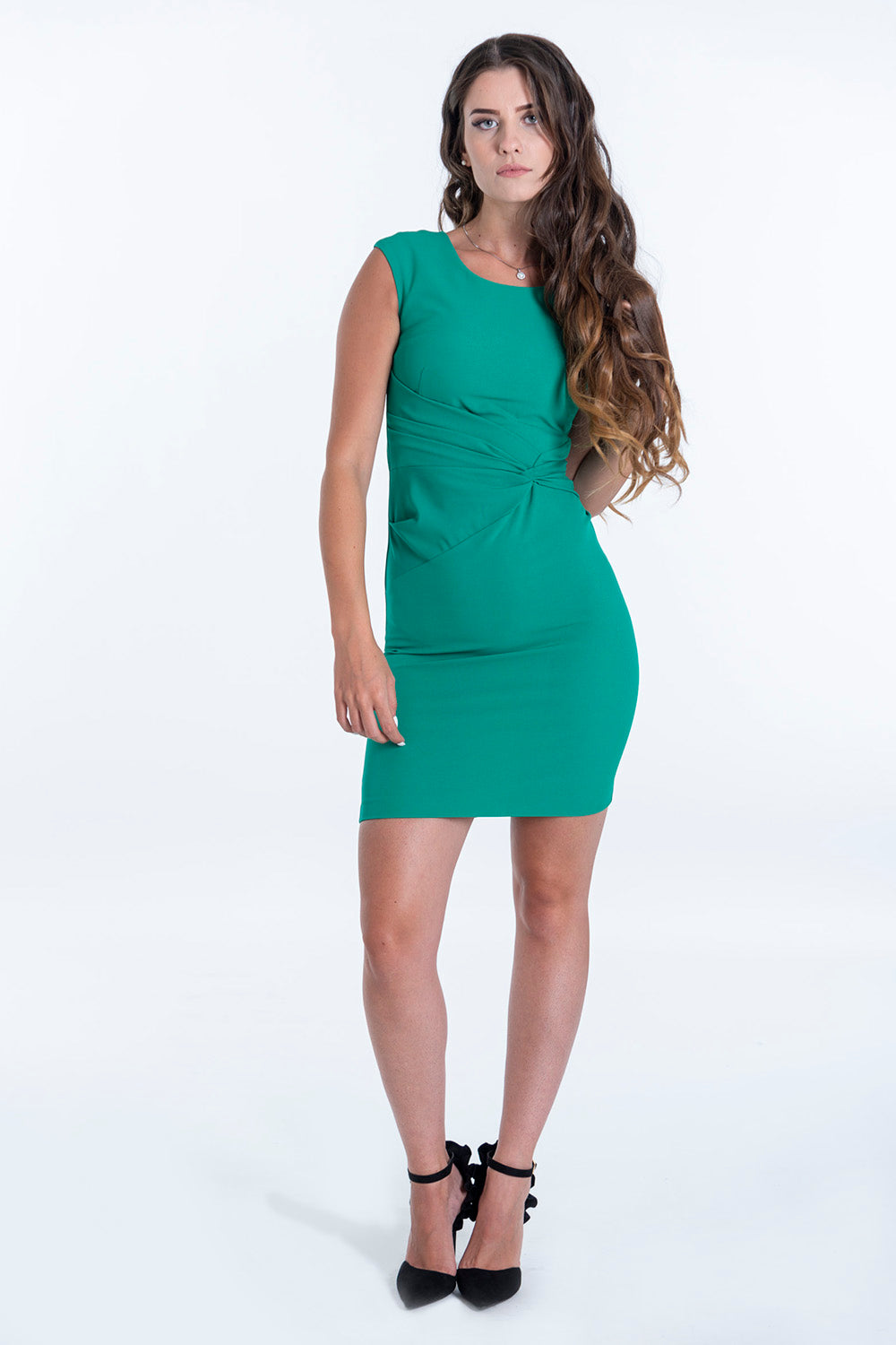 Despina Vandi for Chip&Chip dress with ruched waist