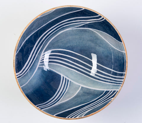 Thirstystone wood and enamel bowl