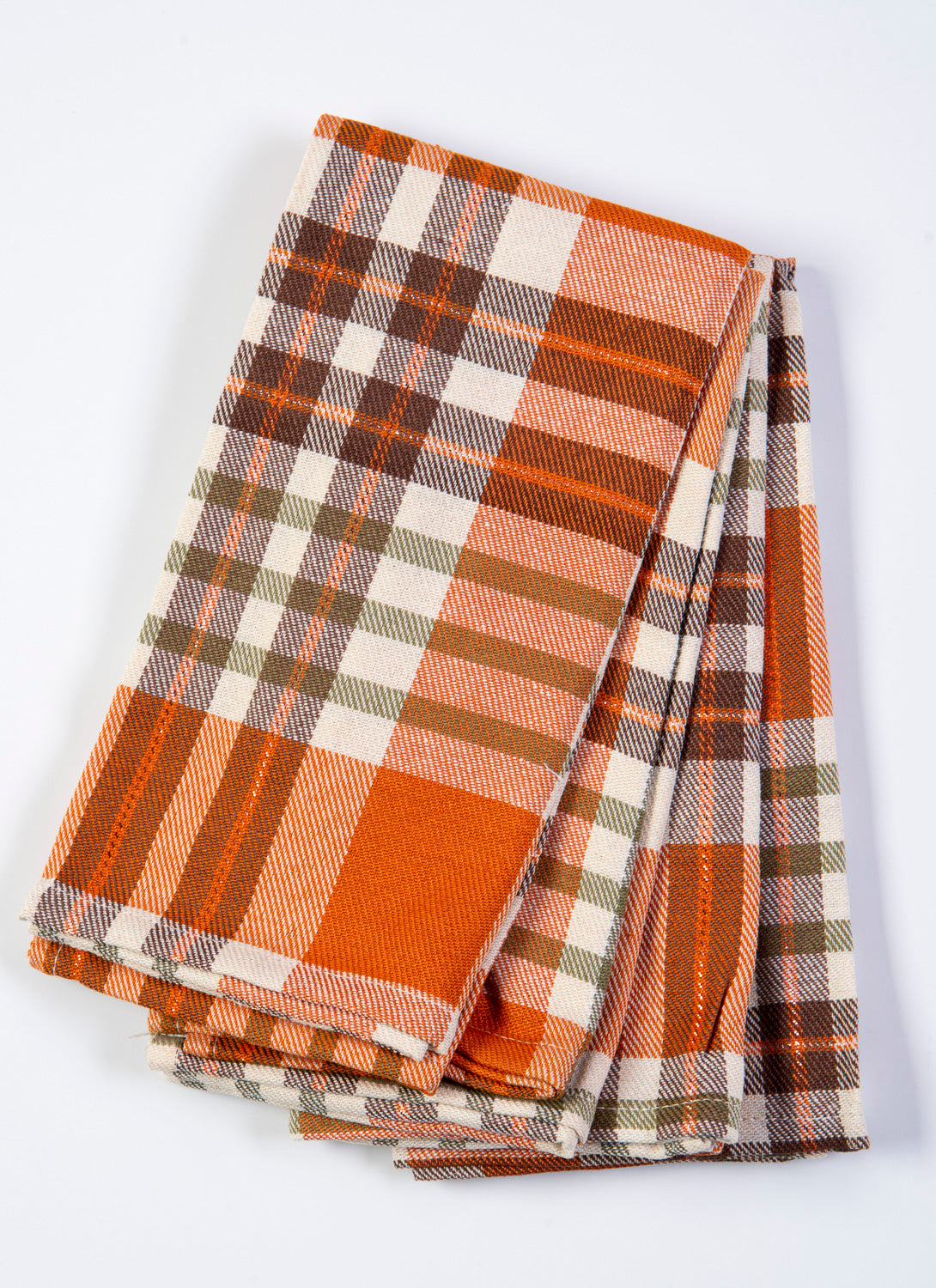Bardwil linens Berry Plaid set of 4 napkins in warm colours