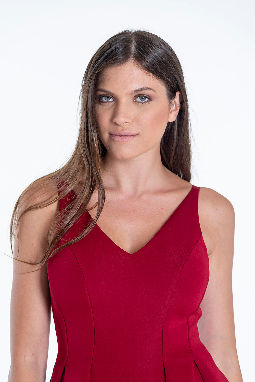 Lily Mcbee cami straps dress in structured fabric