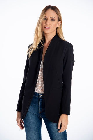 NúNu no collar blazer