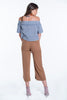 Akè wide leg soft trousers with rope belt
